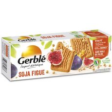 GERBLE Biscuits soja figue sans huile de palme moins de sucre, sachets fraîcheur 4x4 biscuits 270g