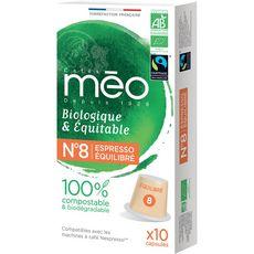 Méo Café bio robe de moine en capsule compatible Nespresso 53g