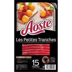 Aoste Les petits tranches jambon cru environ 15 tranches 90g