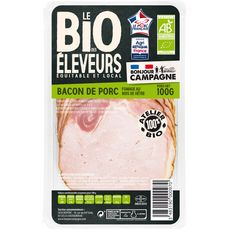BONJOUR CAMPAGNE Bacon bio fumé 10 tranches 100g