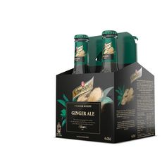 SCHWEPPES Boisson pour cocktail premium mixer ginger ale bouteilles 4x20cl
