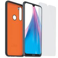 XIAOMI Lot coque + protection d'écran pour Xiaomi Redmi Note 8T - Noir/Orange