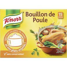 KNORR Bouillon de poule sans conservateur 15 tablettes 150g