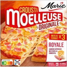 MARIE Pizza crousti moelleuse royale 3 pièces 1,2kg