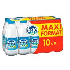 LACTEL Lait demi-écrémé UHT 10x1l