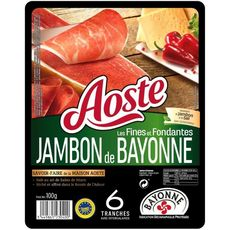 Aoste Jambon de Bayonne tranches fines et fondantes 6 tranches100g