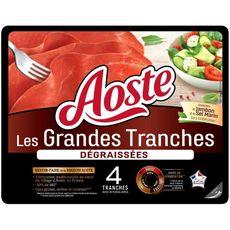 AOSTE Aoste Jambon cru 4 grandes tranches dégraissées 100g 4 tranches 100g