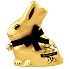 LINDT Lapin Or en chocolat noir 70% cacao 100g