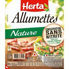 HERTA Allumettes nature sans nitrite 2x75g