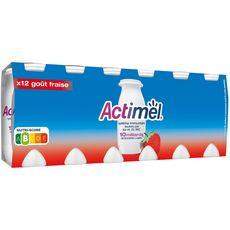 ACTIMEL Lait fermenté à boire fraise 12x100g