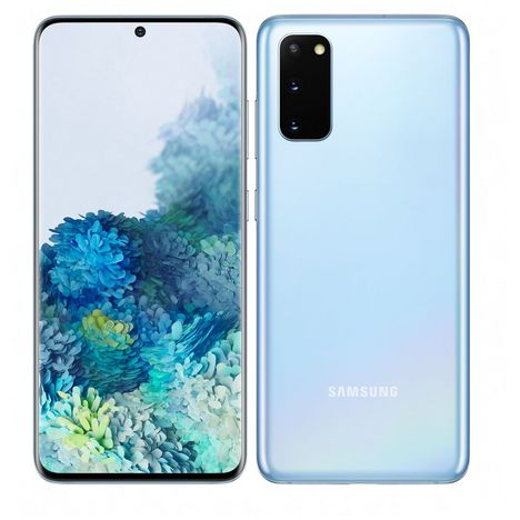 SAMSUNG Smartphone Galaxy S20 128 Go 6.2 pouces Bleu 4G Double port Sim + e-Sim