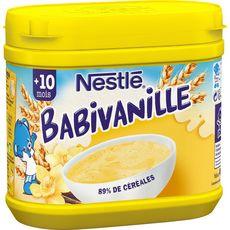 NESTLE Babivanille céréales à la vanille en poudre dès 10 mois 400g