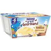 Nestlé p'tit gourmand crème dessert vanille 400g dès 6 mois