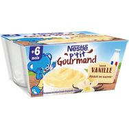 Nestlé Nestlé P'tit gourmand petit pot crème dessert vanille dès 6 mois 4x100g