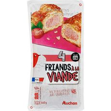 AUCHAN Friand à la viande 4 pièces 440g