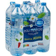 Auchan eau minérale naturelle 6x1,5L