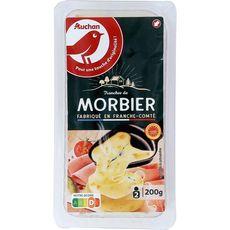 AUCHAN Auchan Fromage à raclette morbier AOP x6 -200g 6 tranches 200g