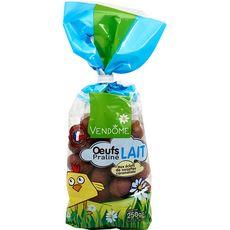 VENDOME Vendome œufs chocolat au lait pralinés petits grains 250g