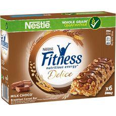 FITNESS Nestlé Fitness délice chocolat lait 6x22,5g
