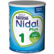 Nestlé Nidal 1 lait 1er âge en poudre épaissi de la naissance 800g