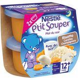 Nestlé Nestlé P'tit souper bol risotto carottes et champignons dès 12 mois 2x200g