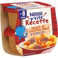 Nestlé Nestlé P'tite recette bol mijoté de carottes et boeuf dès 12 mois 2x200g
