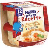 Nestlé Nestlé P'tite recette bol blanquette de riz et dinde dès 12 mois 2x200g