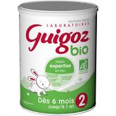 Guigoz lait bio 2ème âge de 6 à 12 mois 800g