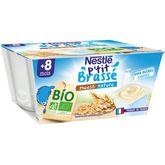 Nestlé bio ptit brassé muesli nature 4x90g dès8mois