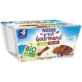Nestlé bio p'tit gourmand poire cacao 4x90g dès 6 mois