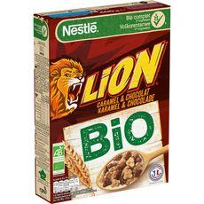 LION Céréales bio au caramel et chocolat 400g