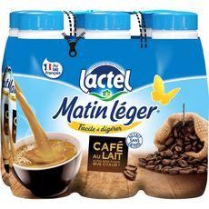 LACTEL Lactel matin léger café au lait 6x50cl