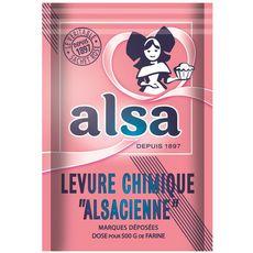 ALSA Levure chimique alsacienne 8 sachets 8x11g