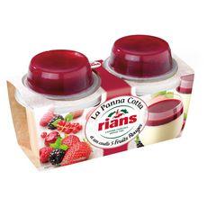RIANS Panna Cotta et coulis de Fruits rouges 2x120g 2x120g