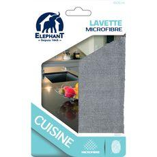 ELEPHANT Lavette microfibre cuisine 30x30cm 1 lavette
