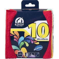 ELEPHANT Lavettes microfibres 30x30cm 10 lavettes