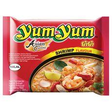 YUM YUM Yum Yum Nouilles asiatiques instantanées halal au goût de crevettes 60g 60g
