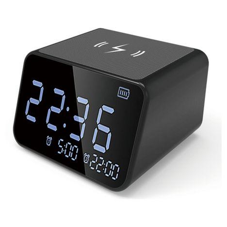 BLAUPUNKT Radio réveil Bluetooth avec base induction - Noir - BLP2850