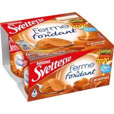 SVELTESSE Ferme et fondant yaourt allégé au caramel 4x125g