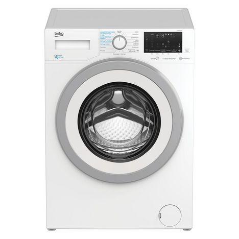 BEKO Lave linge séchant hublot HWD8526SW, 8 kg lavage, 5 kg séchage, 1200 T/min, Condensation