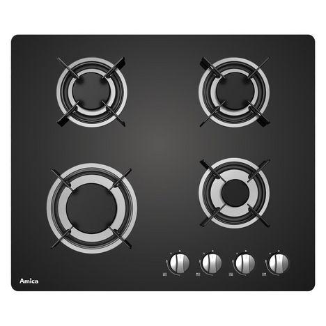 AMICA Table de cuisson à gaz AG3640N, 60 cm, 4 foyers