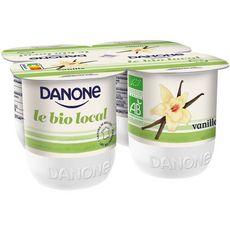 DANONE Danone Le Bio Local Yaourt vanille 4x125g 4x125g