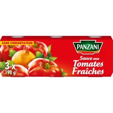 PANZANI Sauce aux tomates fraîches sans conservateur 3x190g