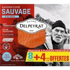 Delpeyrat saumon fumé sauvage tranche x8 +4offertes 330g
