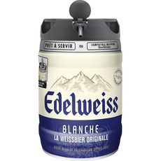 EDELWEISS Edelweiss Bière blanche arôme herbes des montagnes 5% fût pression 5l 5l