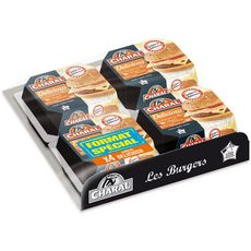 Charal Delicioso burger tomate emmental sauce moutarde miel 4x180g