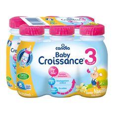 CANDIA Baby 3 lait de croissance liquide vanille dès 12 mois 6x250ml
