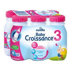 Candia Baby 3 lait de croissance liquide de 10 mois à 3 ans 6x250ml
