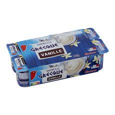 AUCHAN Yaourt à la grecque aromatisé vanille 8x125g