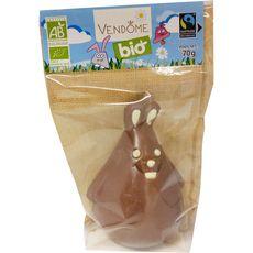 VENDOME Vendome moulage lapin chocolat au lait bio max havelaar 70g 70g